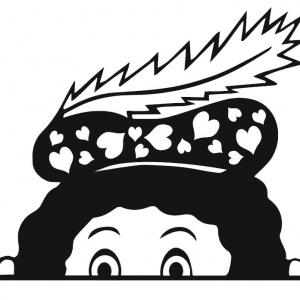 Statische raamsticker Gluurpiet hartjes, de nieuwe rage 2020 na de berenjacht. Onze gluurpietjes zijn makkelijk op je raam te plakken en laat geen sporen achter! De statische raamsticker gluurpiet is in A4 formaat.