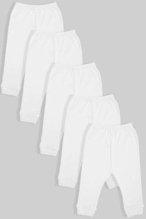 חמישיית מכנסיים פתוחים פלנל לבן (0-2.5 שנים)