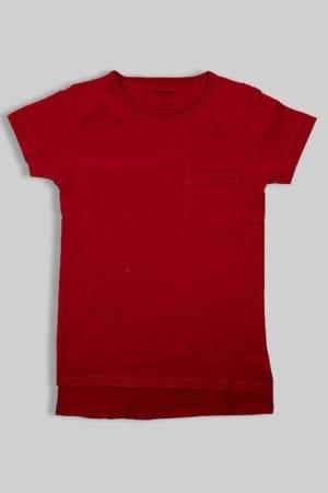 חולצת ביסייק אדומה