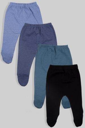 רביעיית רגליות פלנל - חלק - כחול שחור (0-2.5 שנים)