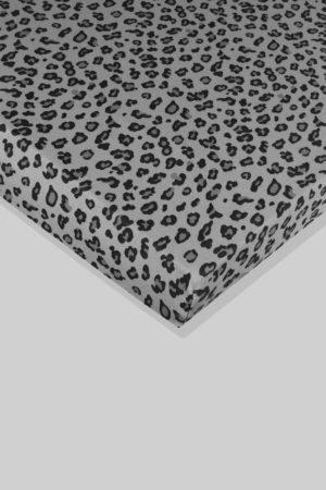 סדין לתינוק - מנומר רקע אפור - מיטת תינוק/מיטת מעבר | עריסה