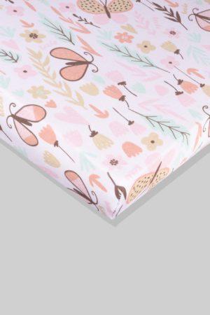 סדין לתינוק - פרפרים - מיטת תינוק/מיטת מעבר | עריסה