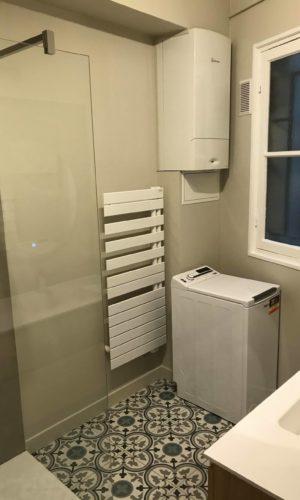 salle de bain dans une rénovation appartement
