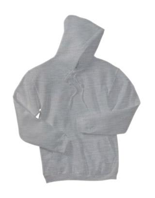 Sweat Shirt With Hood & Pocket - White Heather