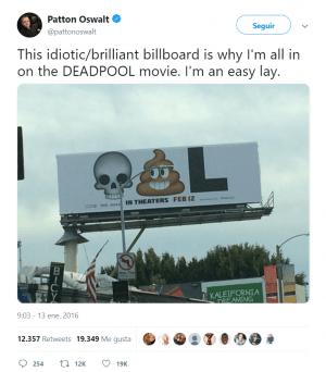 Anuncio Deadpool