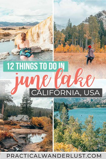 June Lake, California is a charming little mountain town in the high Eastern Sierra Nevada mountains packed with hiking trails and alpine lakes. This weekend getaway destination has some of the best fall foliage in California, plus skiing, snowboarding, fishing, hiking, hot springs, and more! Here's 12 things to do in June Lake and along the June Lake Loop!