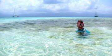 Snorkeling off of the san boas islands, panama