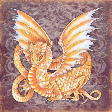 Dragon Energy Wall Art Custom Fine Art Print by Mickie Caspi