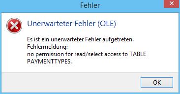 WinOrder Fehlermeldung: unerwarteter Fehler (OLE)