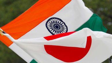 India Japón banderas