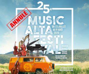 Cancellation of Musicalta Festival 2020