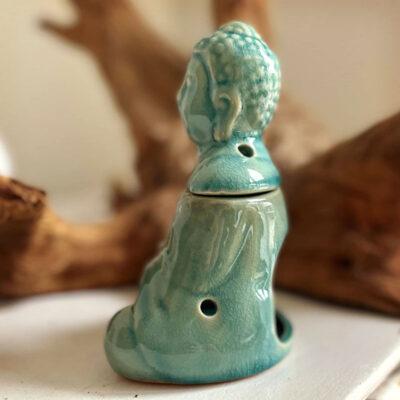 Duftlampe siddende Buddha
