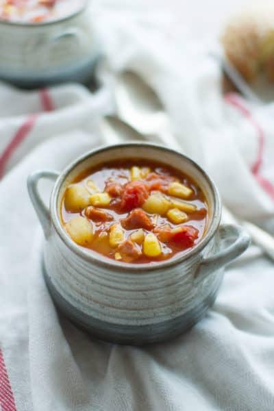Smoky Tomato-Ham Chowder