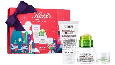Kiehl's Uttra Skin Lovers facial cleanser set   40plusstyle.com