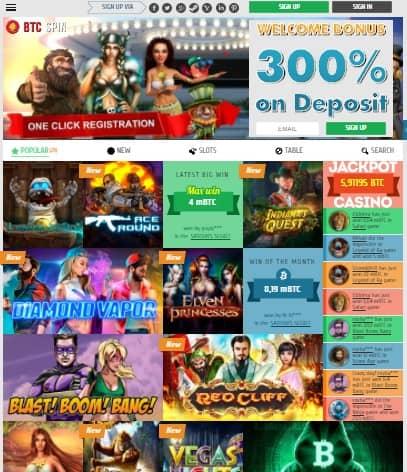 BTC Spin Casino Review