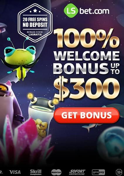 LSBet.com 20 free spins no deposit bonus