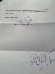Carta Franklin Peña. 2.