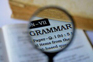 grammar, magnifier, magnifying glass