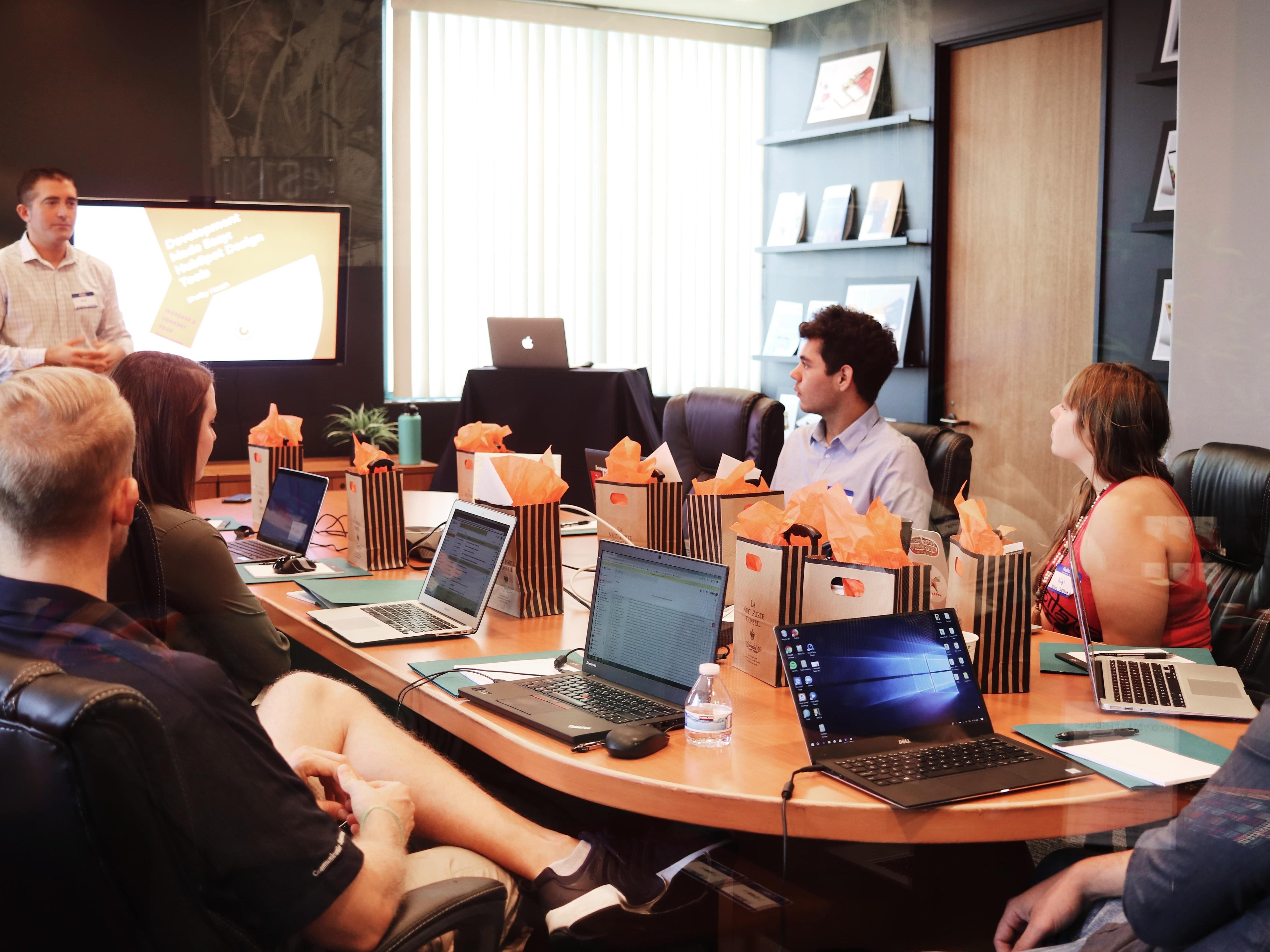 A customer advisory board meeting