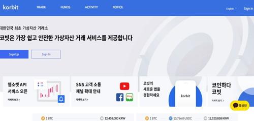 Korbit pagina web