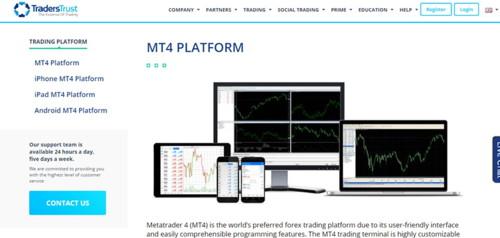 TradersTrust pagina web