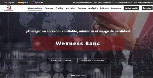 Wexness Banc pagina web