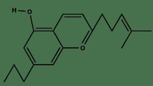 Cannabichromevarian chemical structure