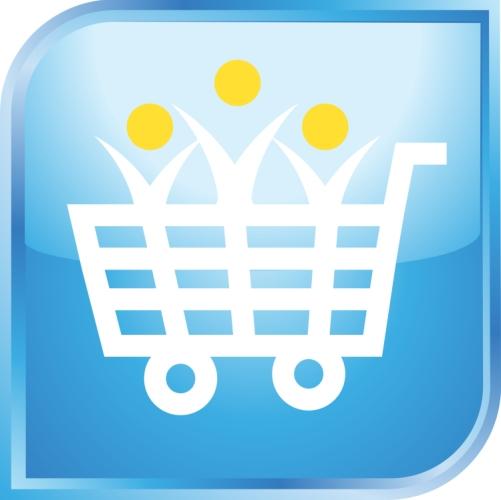 bevásárlókocsi ikon grafika