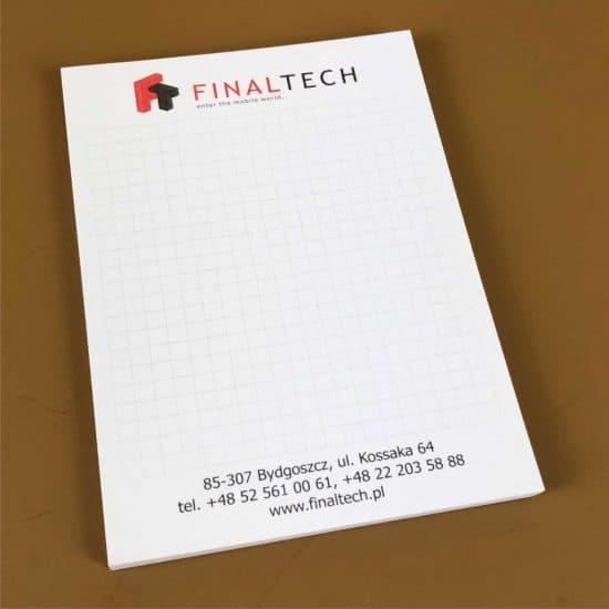 Notesy A6 reklamowe firmowe bydgoszcz finaltech