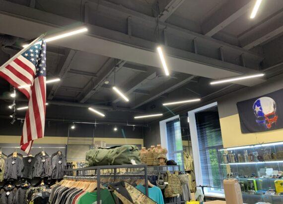 проект освещения для магазина