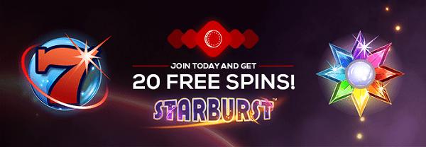 20 gratis spins