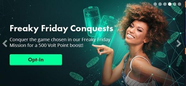 Volt Casino weekly and weekend bonuses