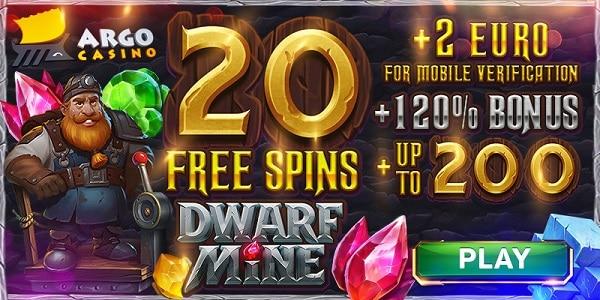 20 gratis spins on register