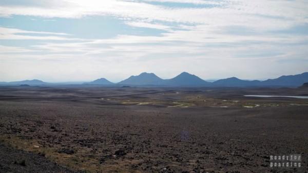 Islandia północna - księżycowe widoki