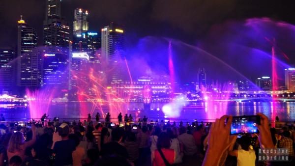 Spectra Water Show, Marina Bay - Singapur