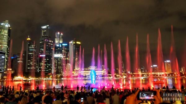 Wodne show w Marina Bay - Singapur