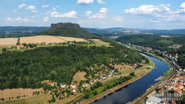 Widok z twierdzyKönigstein, Saksonia