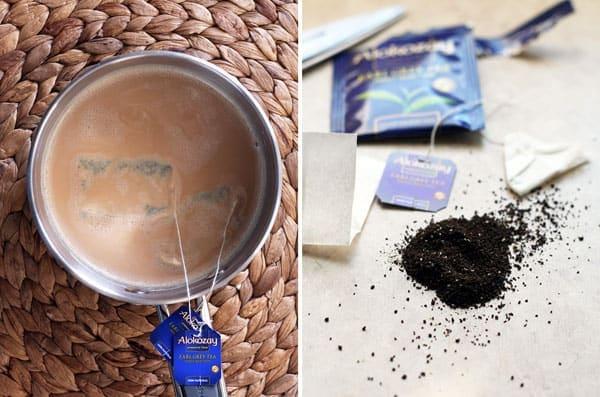 Steeping Earl Grey Tea Bags