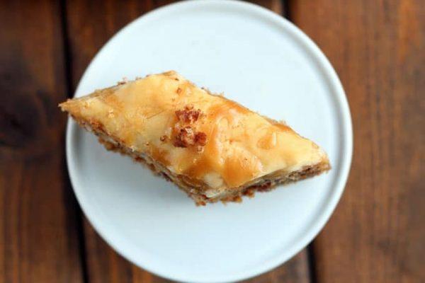 Slice of Maple Pecan Baklava