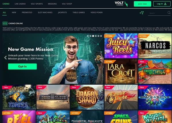 Volt Casino Online Review