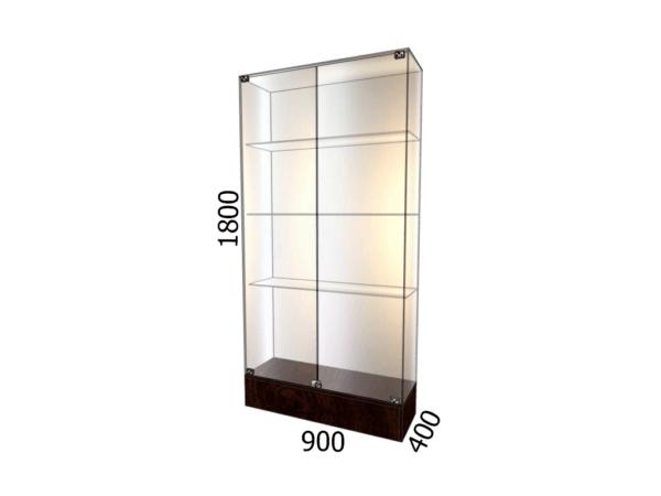 Витрина стеклянная на подиуме 900*400*1800 3 полки торговая