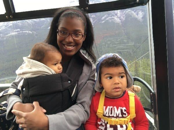 banff with a baby, banff with a toddler, visiting banff, banff alberta, banff gondola
