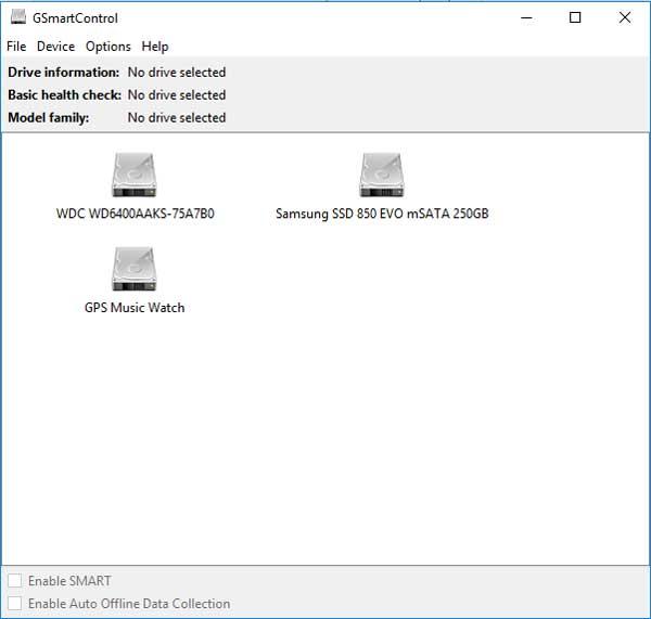 GSmartControl geeft je veel informatie over alle schijven in je computer.