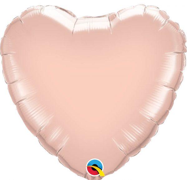 Ballon coeur rose gold.