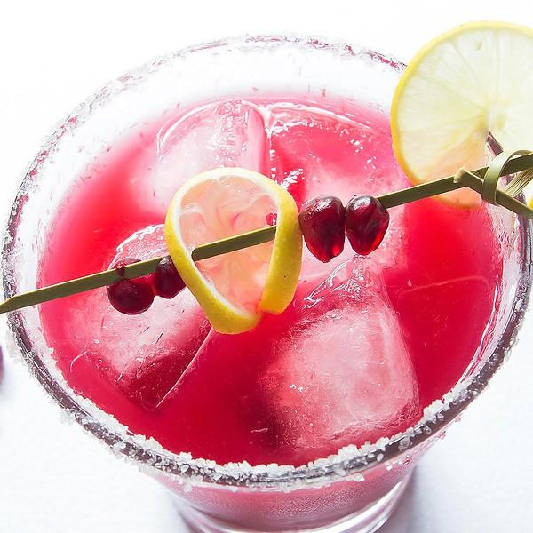 Pomegranate Margarita Recipe in Glass