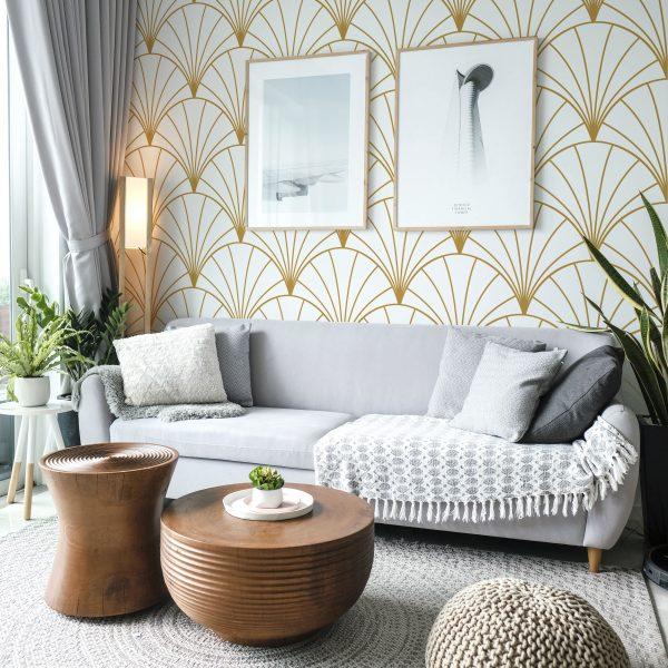 Main Image Gold Shells Wallpaper