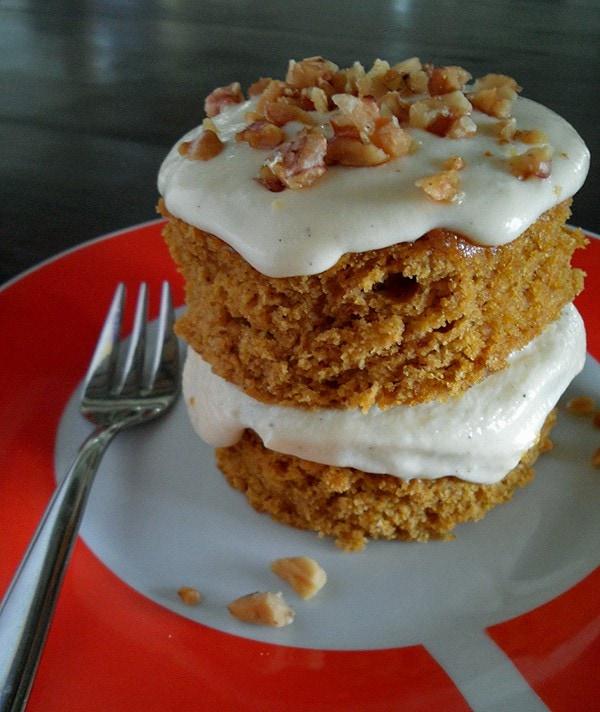 Mini Pumpkin Cake on Plate