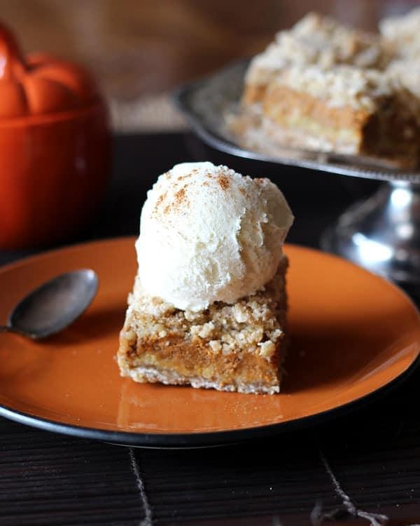 Pumpkin Bar and Ice Cream