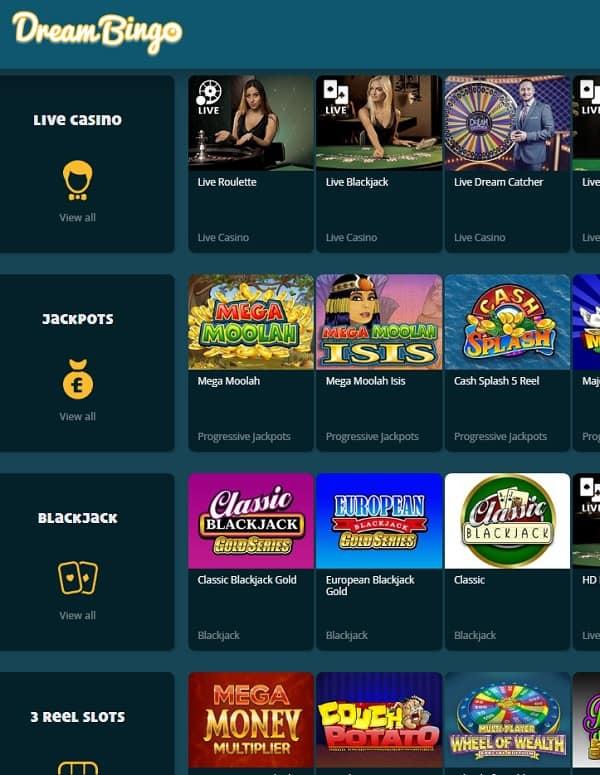 Dream Bingo Casino Review | 300% welcome bonus and Free Spins