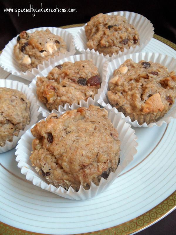 Plate of Oatmeal Raisin Muffins